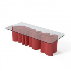 Table basse Amore, Slide Design rouge Mat