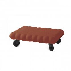 Table basse biscuit Tea Time, Slide Design chocolat Mat