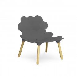 Chaise lounge design Tarta, Slide Design gris laqué mat