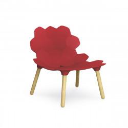 Chaise lounge design Tarta, Slide Design rouge laqué mat