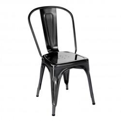 Chaise A Brillant, Tolix noir