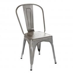 Chaise A Inox Verni, Tolix satiné