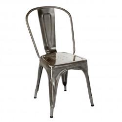 Chaise A Inox Verni, Tolix gris lasure