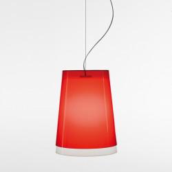 Suspension L001S/AA, Pedrali rouge transparent / blanc