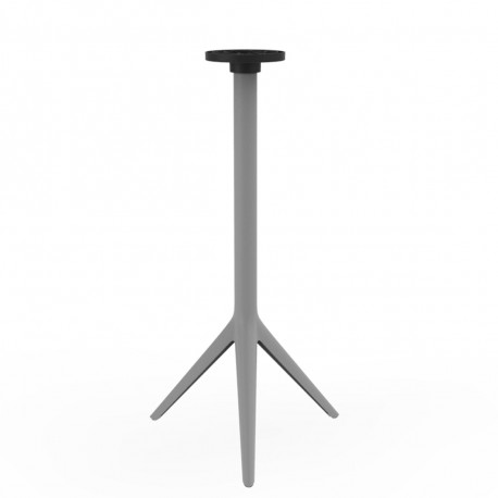 Pied de mange debout Mari-Sol, H 105 cm pour petits plateaux, Vondom acier Fixe, H73 cm