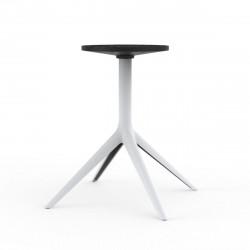 Pied de table Mari-Sol, H 73 cm pour grands plateaux, Vondom blanc Fixe, H73 cm