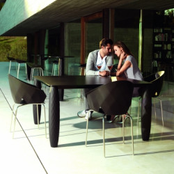 Table Vases, Vondom noir 210x100 cm