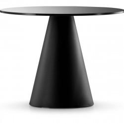Table Ikon 869, Pedrali, plateau Fenix noir Diamètre 129 cm