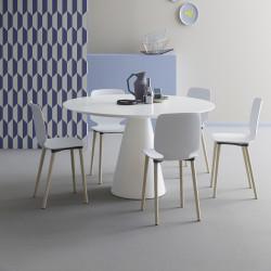 Table Ikon 869, Pedrali blanc Diamètre 150 cm