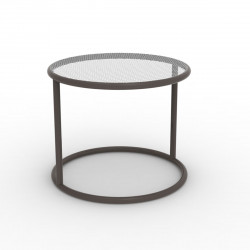 Table basse Kes, Vondom bronze Diamètre 40 cm
