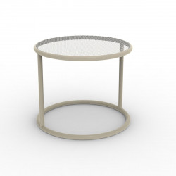 Table basse Kes, Vondom ecru Diamètre 40 cm