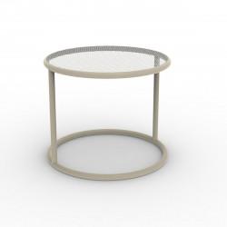 Table basse Kes, Vondom ecru Diamètre 55 cm