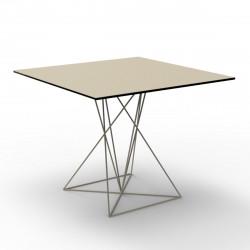 Table Faz inox, Vondom ecru 80x80xH72 cm