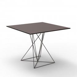 Table Faz inox, Vondom bronze 90x90xH72 cm