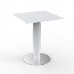 Table carrée Vases, Vondom blanc 70x70 cm