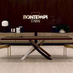 Table Sculptura en bois Chêne spessart 160/200/240x90 cm
