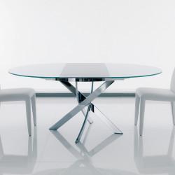 Table Elica à rallonge blanc opaque 175x125 cm