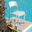 Chaise gipsy sans accoudoirs blanc