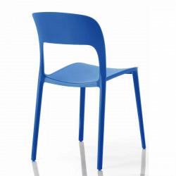 Chaise gipsy sans accoudoirs bleu marine