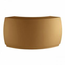 Banque d'accueil Round, élément d'angle, Proselec beige Mat