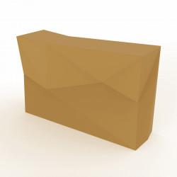 Banque d'accueil Origami, élément droit, Proselec beige Mat