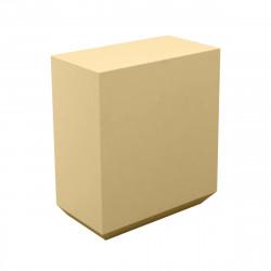 Banque d'accueil Line, élément droit 1m, Proselec beige Laqué