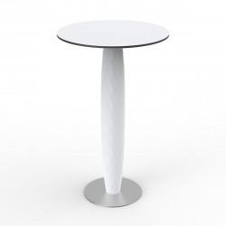 Table haute Vases, Vondom blanc 60x60 cm