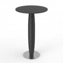 Table haute Vases, Vondom noir Diamètre 70 cm