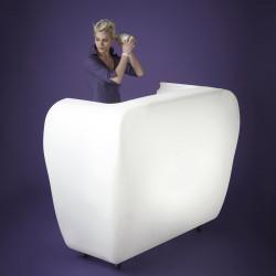 Roller Bar-Desk lumineux, Slide Design blanc