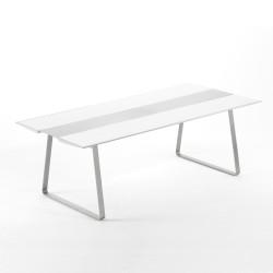 Table Extrados 240 Céramique blanc et Aluminium 242x110 cm