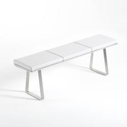 Banc Extrados Medium Vinyle Blanc 172x42 cm