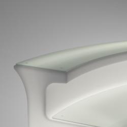 Tablette Top en verre trempé , pour Break bar, Slide Design