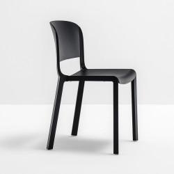 Chaise bistrot design, Dome 260, Pedrali, noir