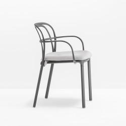 Coussin d\'assise 3715.5 pour chaise Intrigo, Pedrali, blanc