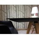 Arki bureau design avec passage de câbles, Pedrali noir 300x120 cm
