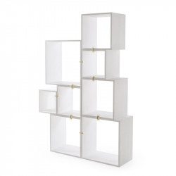 Assemblage, Lot de 8 cubes-étagères, Seletti blanc
