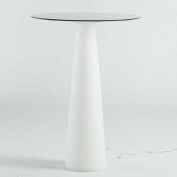 Mange-debout rond Hoplà, lumineux, Slide design, D69xH110 cm