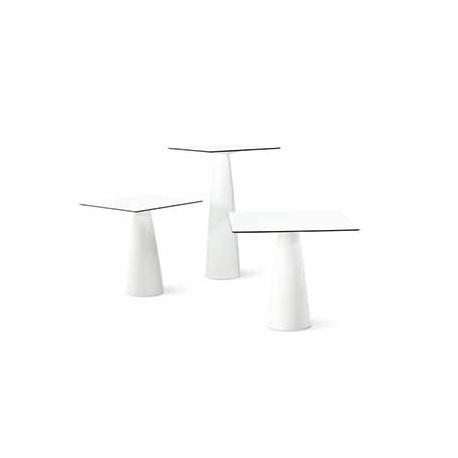 Mange-debout carré Hoplà, lumineux, Slide 69x69xH110 cm