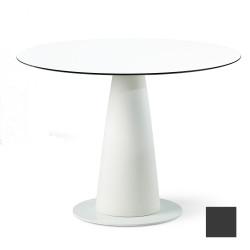 Table ronde Hoplà, Slide design gris D100xH72 cm
