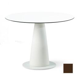 Table ronde Hoplà, Slide design chocolat D100xH72 cm