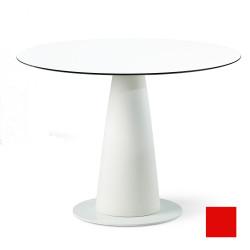 Table ronde Hoplà, Slide design rouge D100xH72 cm