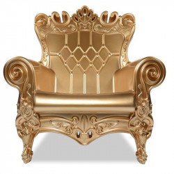 Fauteuil Trône Fauteuil Trône Queen of Love, Design of Love by Slide, Metalic Gold