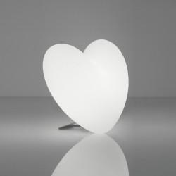 Lampe coeur Love, Slide Design blanc
