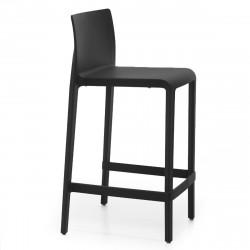 Lot de 2 Tabourets de bar Volt 677, Pedrali noir, hauteur d'assise 66 cm