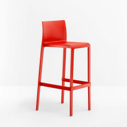 Lot de 2 Tabourets de bar Volt 677, Pedrali rouge, hauteur d'assise 66 cm