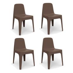 Lot de 4 Chaises Solid, Vondom bronze