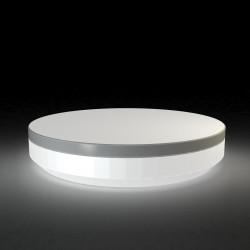 Lit de jardin rond design Vela Daybed, Vondom Lumineux Led blanc