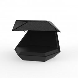 Daybed chaise longue design avec Parasol Faz, Vondom gris anthracite