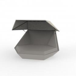 Daybed chaise longue design avec Parasol Faz, Vondom taupe