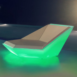 Outdoor Daybed Ulm Daybed, Vondom Lumineux Led RGBW multicolore, 180x180x90cm
